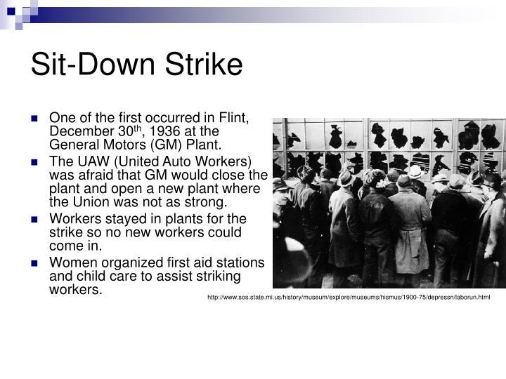 Sit down strike