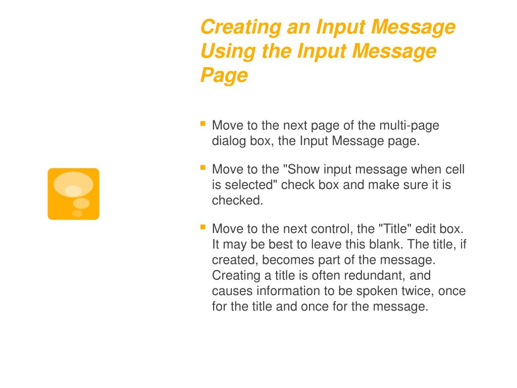Creating an Input Message Using the Input Message Page