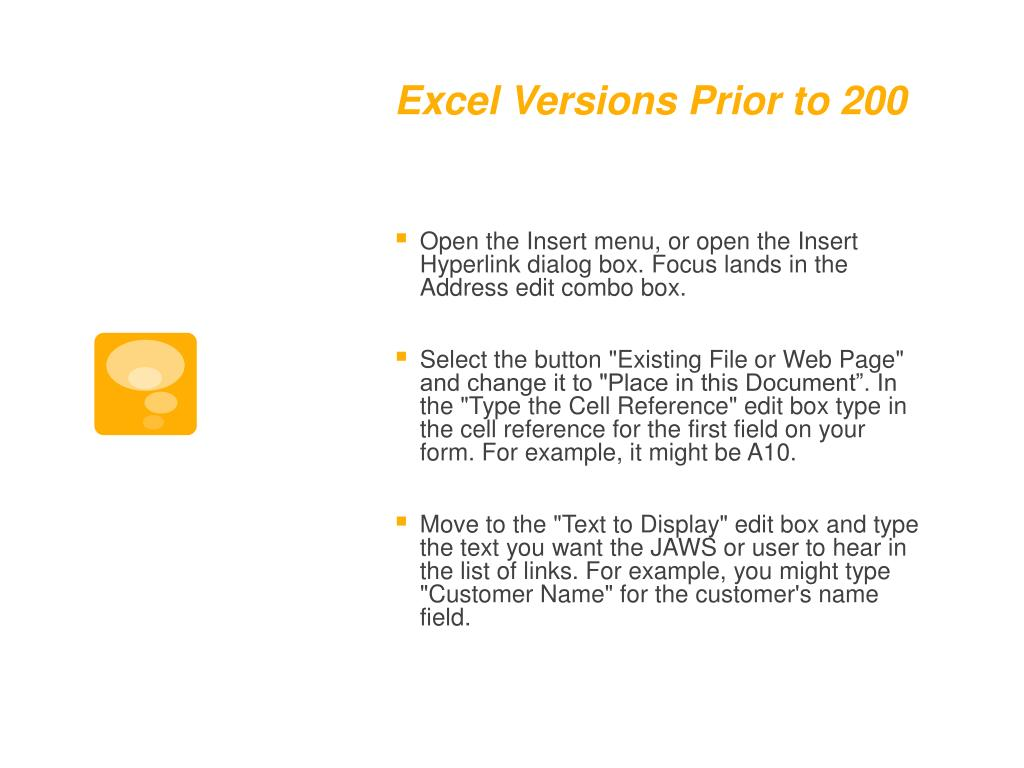 Excel Versions Prior to 200
