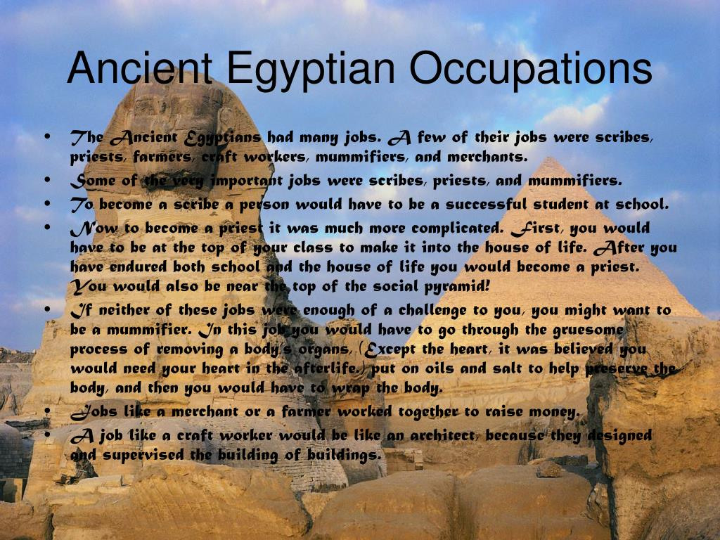 Ancient Egyptian Occupations
