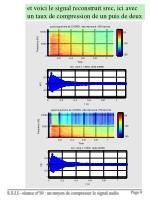 et voici le signal reconstruit srec ici avec un taux de compression de un puis de deux