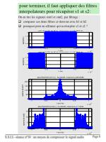 pour terminer il faut appliquer des filtres interpolateurs pour r cup rer s1 et s2