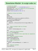 simulation matlab le script codec m