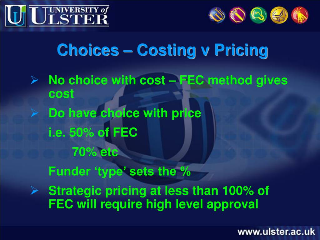 Choices – Costing v Pricing