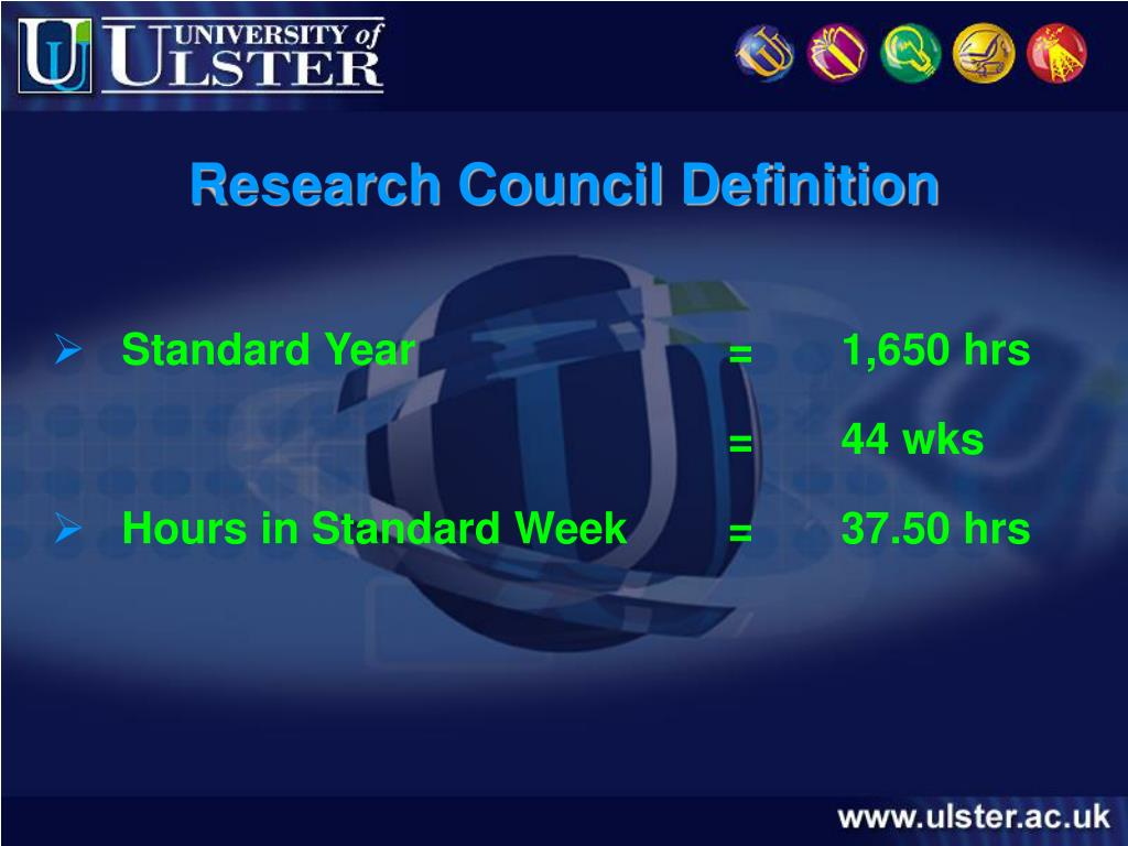 Research Council Definition