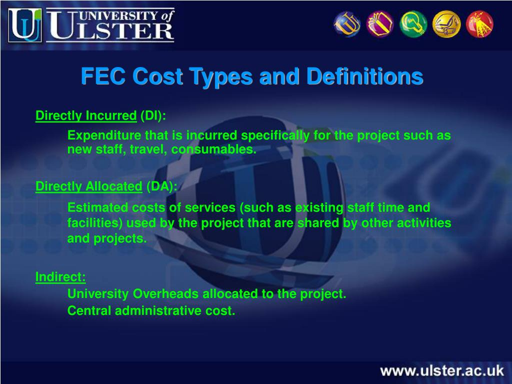FEC Cost Types and Definitions