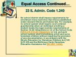 equal access continued