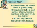 residency nos