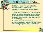 right to reenroll in school