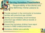 serving homeless preschoolers