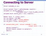 connecting to server