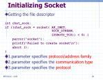 initializing socket