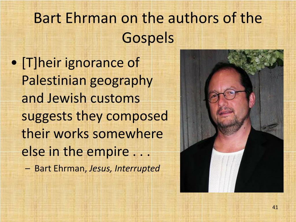 [T]heir ignorance of Palestinian geography and Jewish customs suggests they composed their works somewhere else in the empire . . .