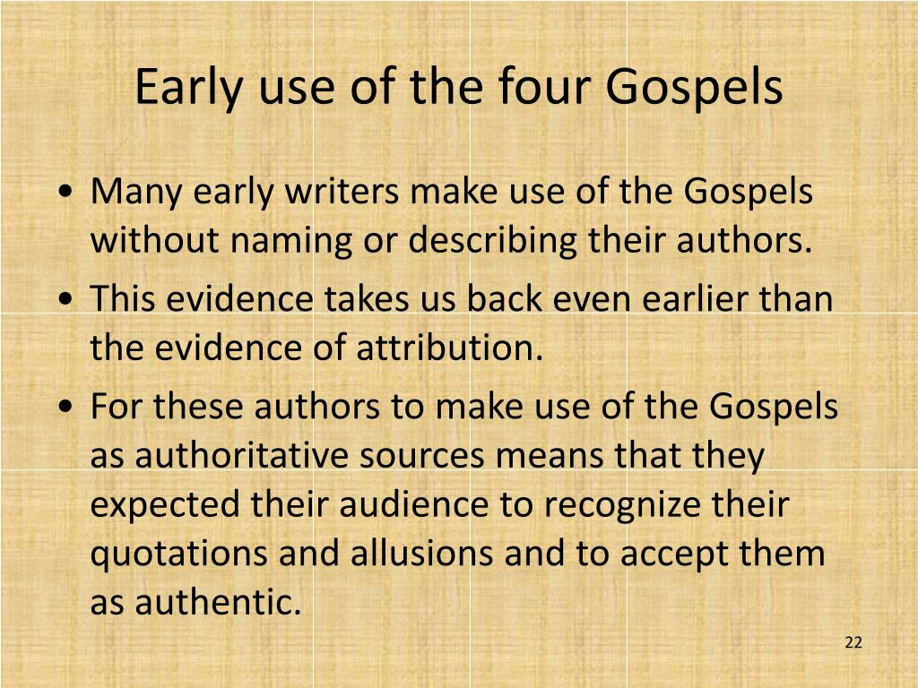 Early use of the four Gospels