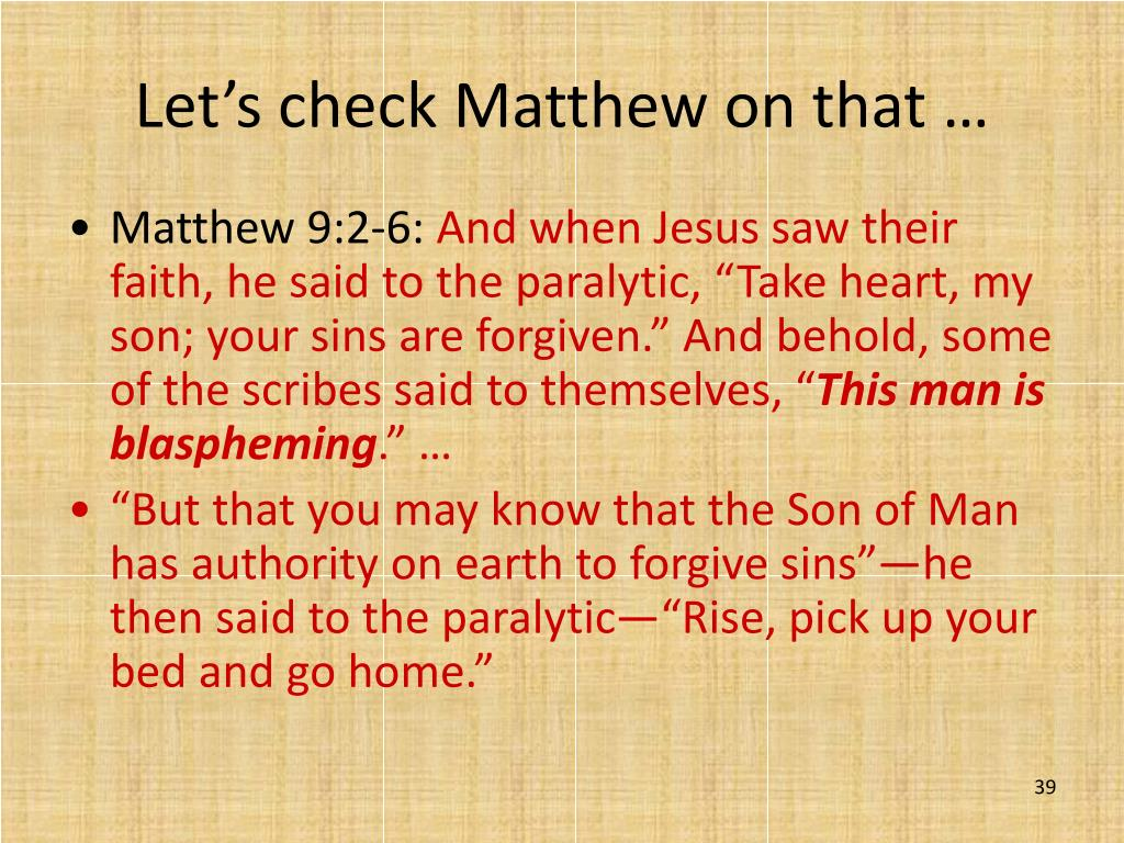 Let's check Matthew on that …