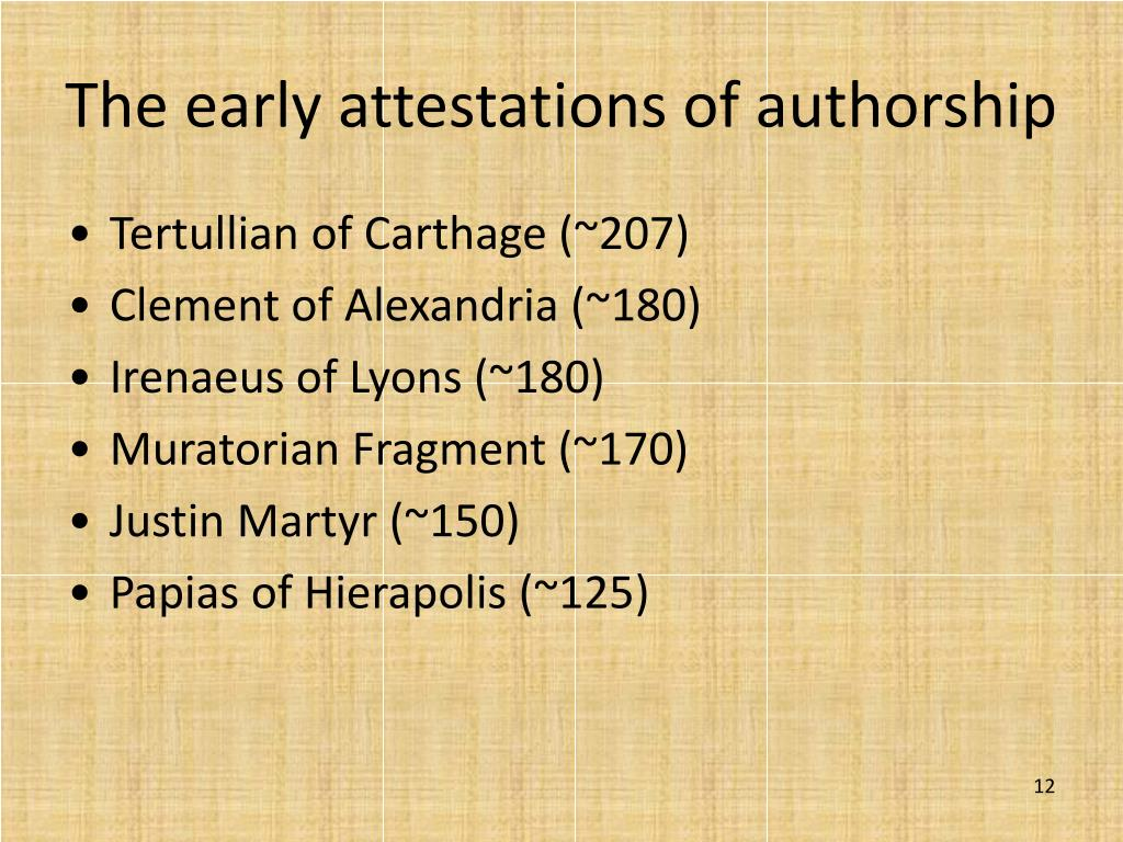 The early attestations of authorship