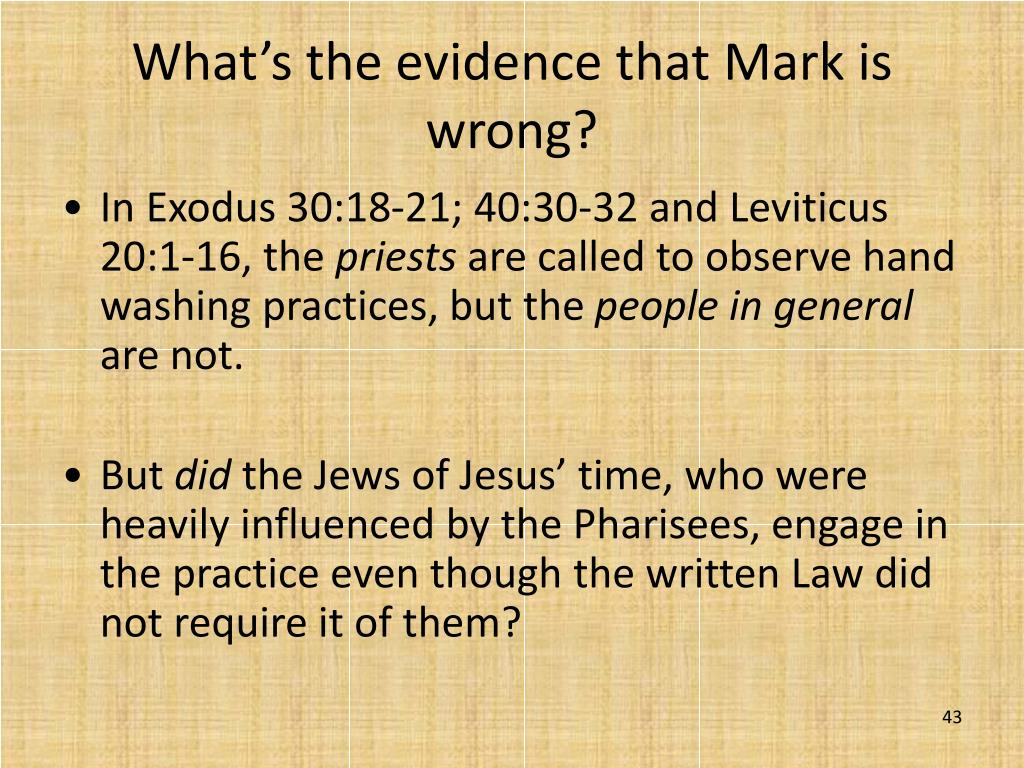 What's the evidence that Mark is wrong?