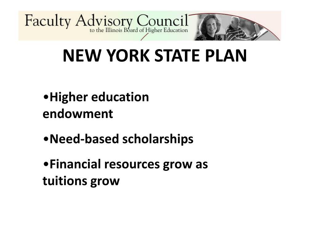 NEW YORK STATE PLAN