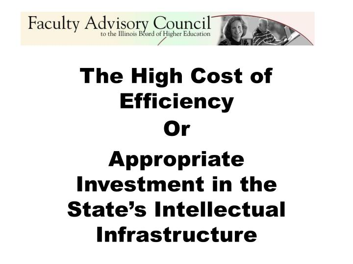 The high cost of efficiency