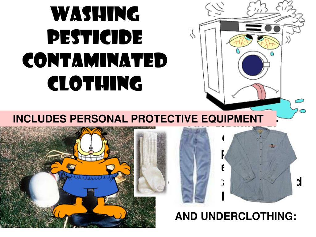 Washing Pesticide Contaminated Clothing