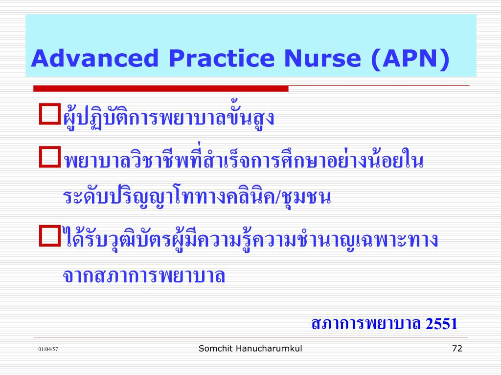 Advanced Practice Nurse (APN)