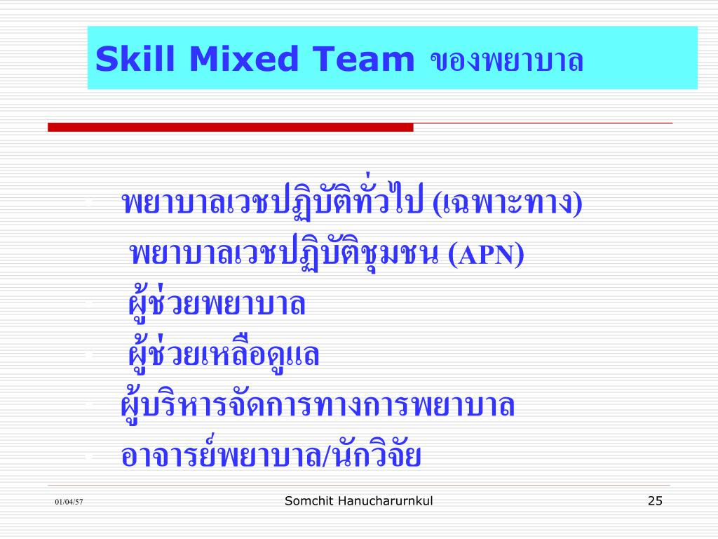 Skill Mixed Team