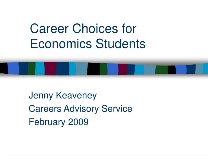 Career choices for economics students