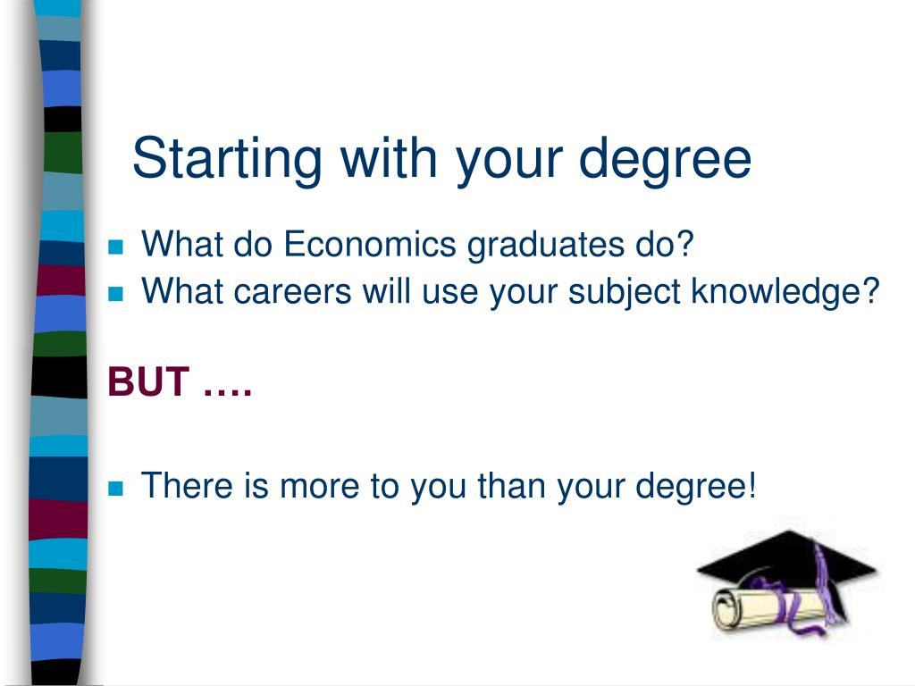 Starting with your degree