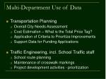 multi department use of data