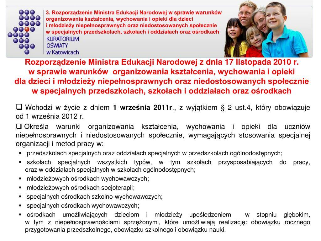 3. Rozporządzenie Ministra Edukacji Narodowej