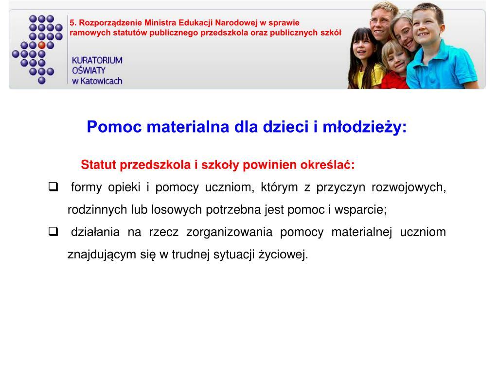 5. Rozporządzenie Ministra Edukacji Narodowej w sprawie
