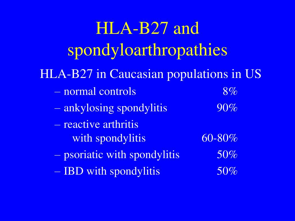 HLA-B27 in Caucasian populations in US