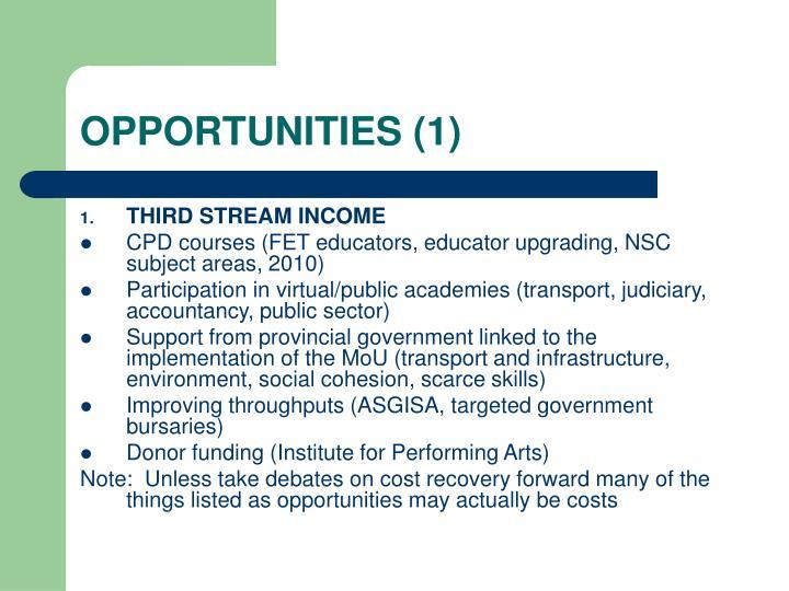 Opportunities 1