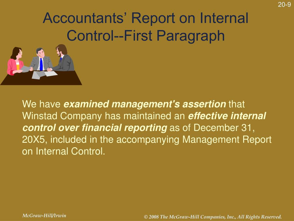 Accountants' Report on Internal Control--First Paragraph