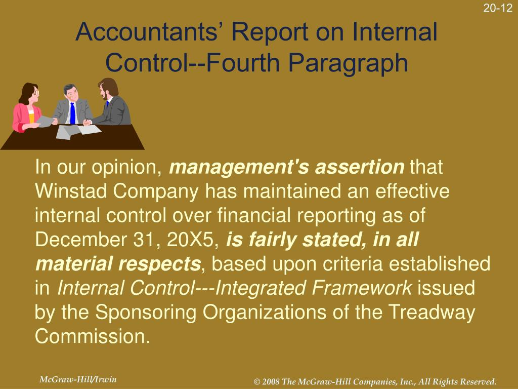 Accountants' Report on Internal Control--Fourth Paragraph