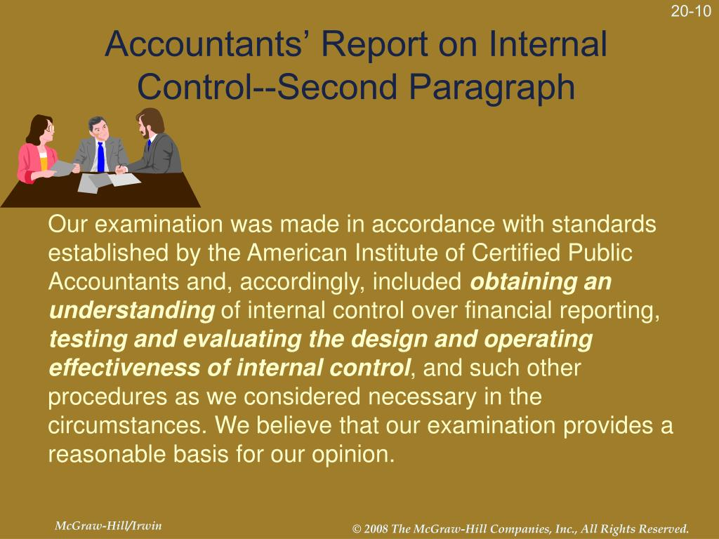 Accountants' Report on Internal Control--Second Paragraph