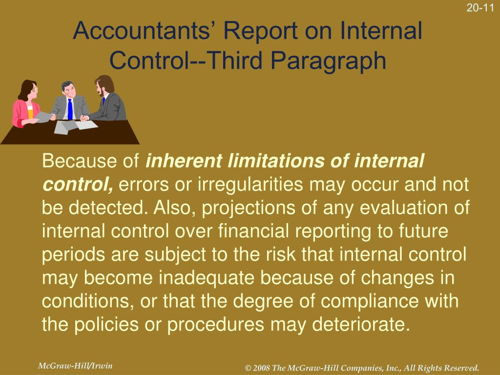 Accountants' Report on Internal Control--Third Paragraph