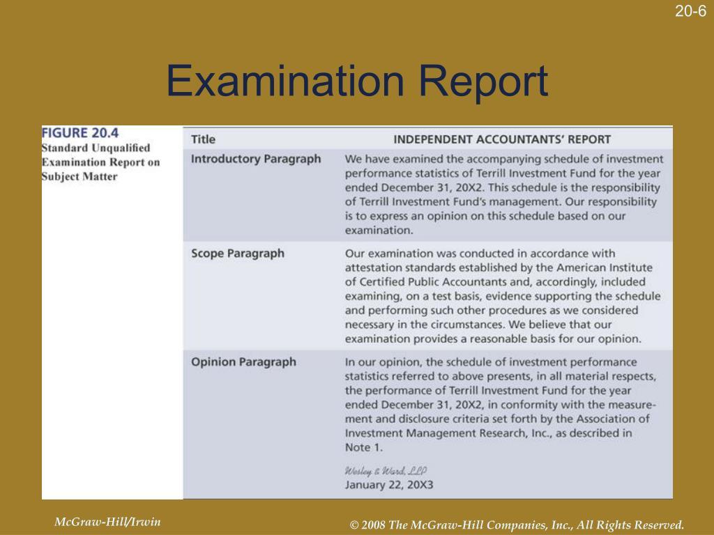 Examination Report