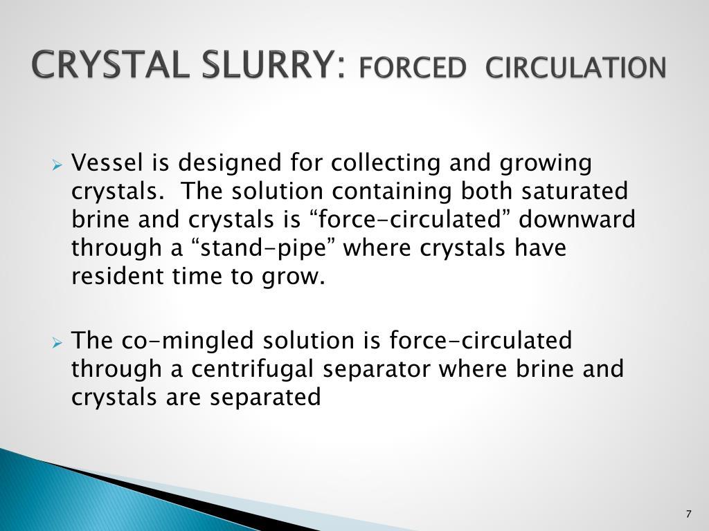 CRYSTAL SLURRY:
