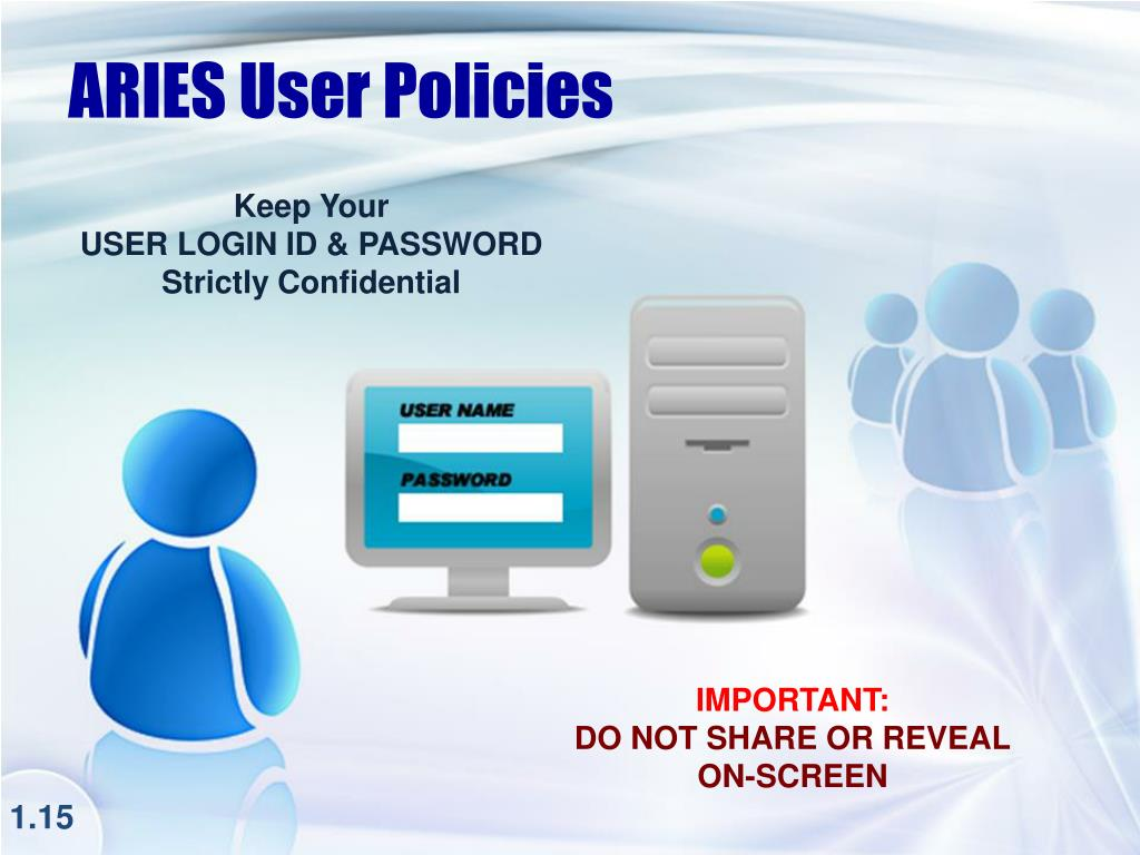 ARIES User Policies