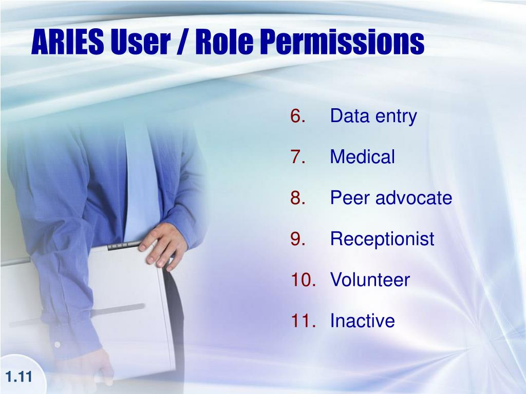 ARIES User / Role Permissions