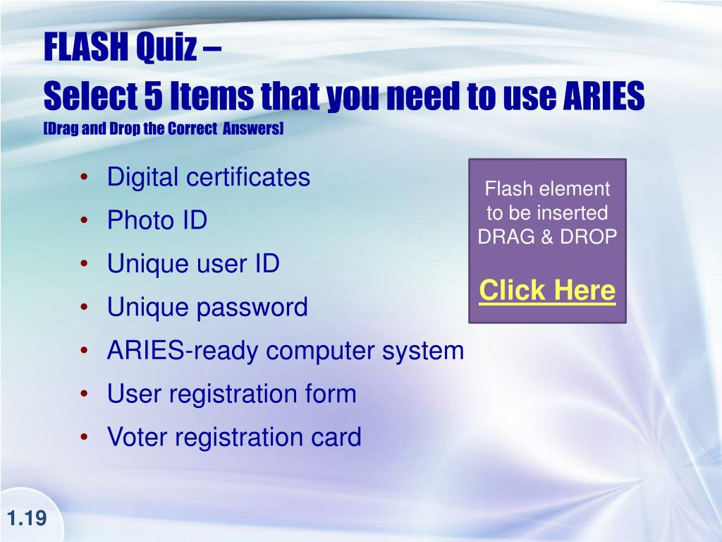 FLASH Quiz –