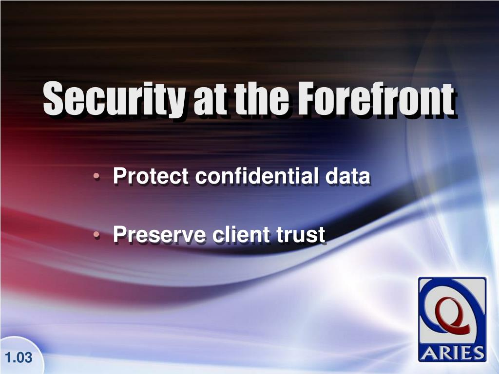 Protect confidential data