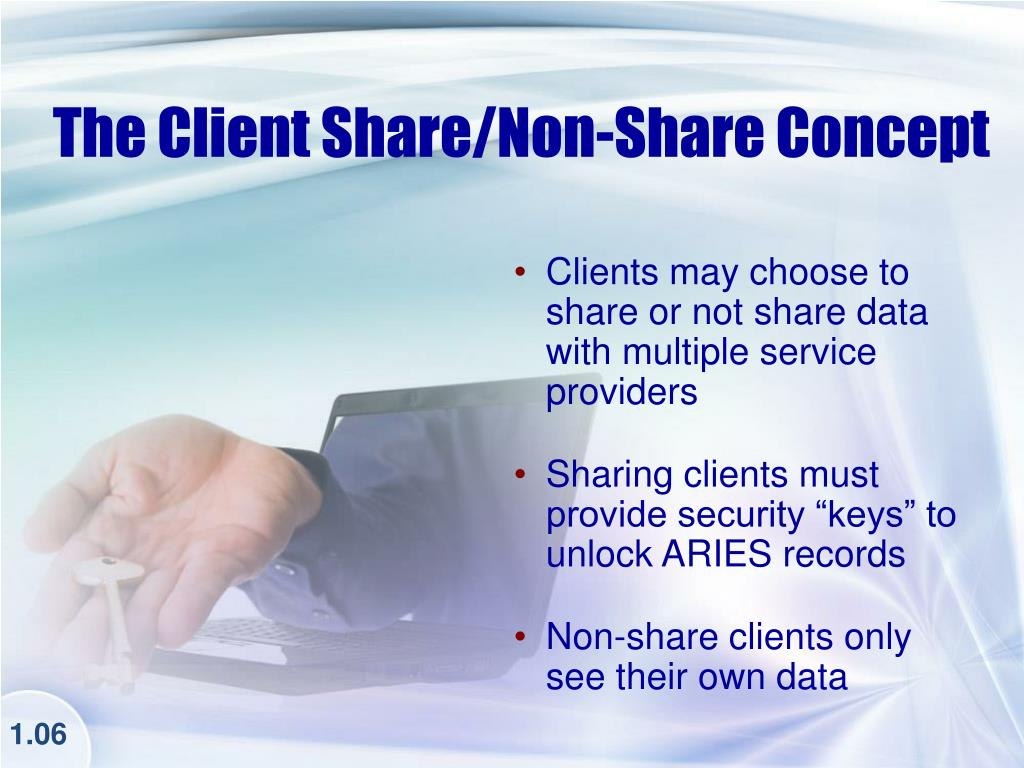The Client Share/Non-Share Concept