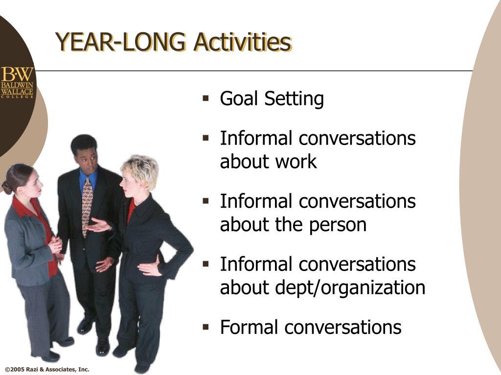 YEAR-LONG Activities