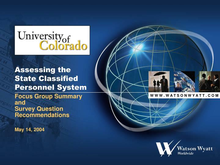 Assessing the state classified personnel system