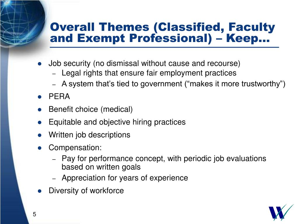 Overall Themes (Classified, Faculty and Exempt Professional) – Keep…