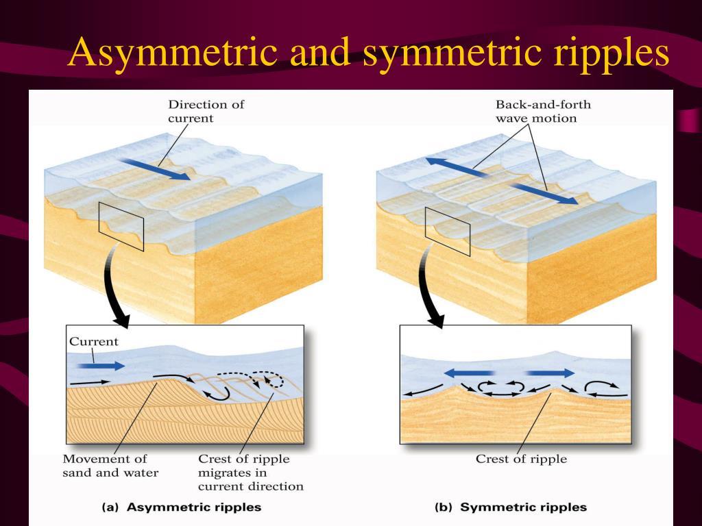 Asymmetric and symmetric ripples