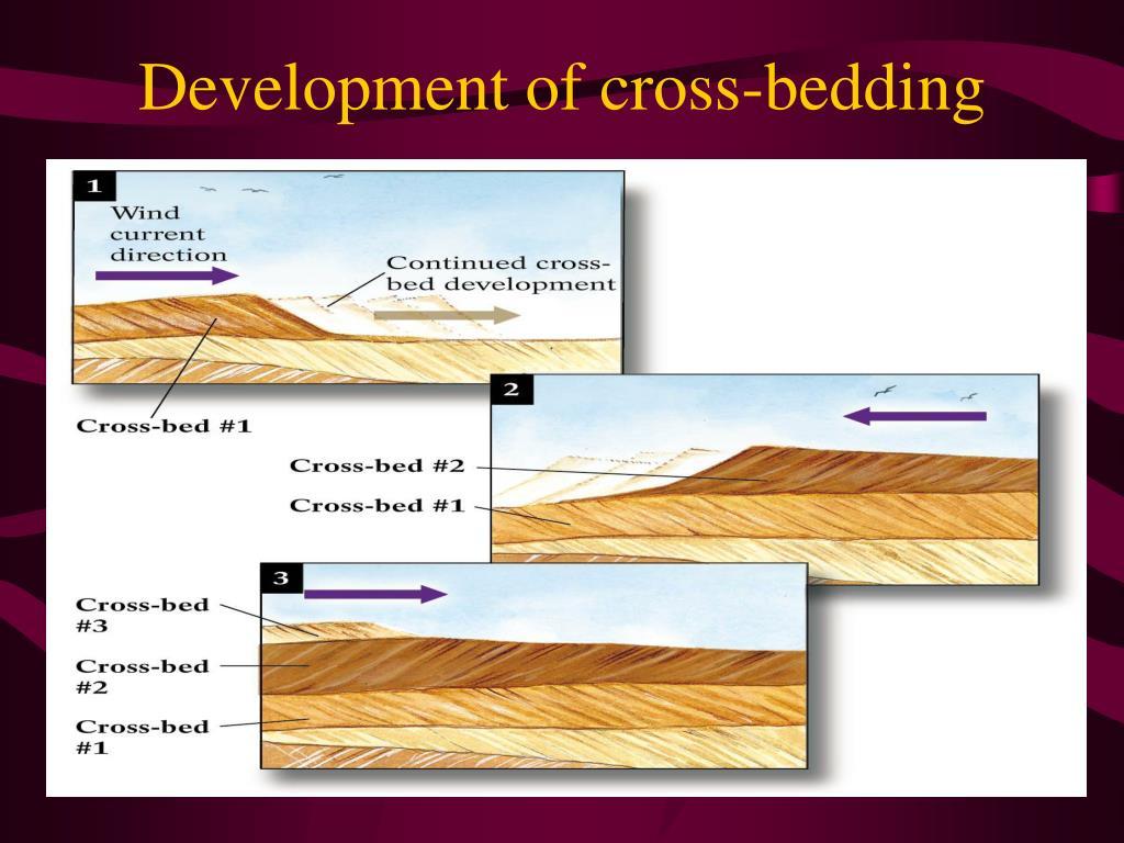 Development of cross-bedding