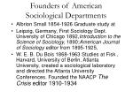 founders of american sociological departments